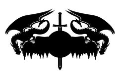 Drachen und Klinge Stockbild