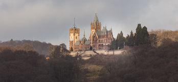 Drachenburg castle bonn germany in the winter Royalty Free Stock Image