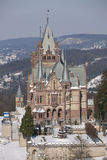 Drachenburg castle in winter Stock Photography