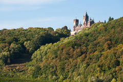 Drachenfels castle in the sun Stock Image