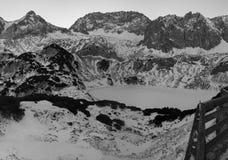 冻drachensee在冬天 免版税库存照片