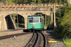 Drachenspoorweg dichtbij koenigswinter Rijn royalty-vrije stock fotografie