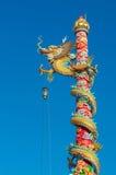 Drachestatue der chinesischen Art Stockfotografie