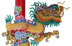 Drachestatue der chinesischen Art Lizenzfreie Stockbilder