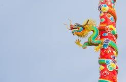 Drachestatue der chinesischen Art Stockfotos