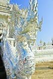 Drachestatue in Wat Rong Khun Stockbild