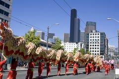 Drachetanz Seattle lizenzfreie stockfotografie