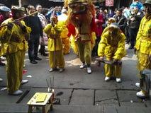 Drachetanzfestival in der alten Stadt, Chengdu, Porzellan Lizenzfreie Stockbilder