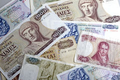 Drachmas Stock Photo