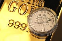 1 drachmy złocista moneta Zdjęcia Royalty Free