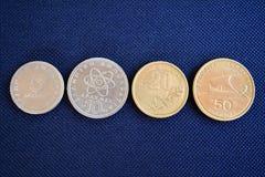 Dracma grego - moedas de várias denominações fotografia de stock royalty free