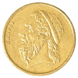 50 dracmas gregos velhos de moeda Fotos de Stock