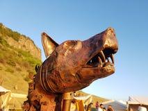 Draco de Dacian del lobo de Dacic Imagenes de archivo