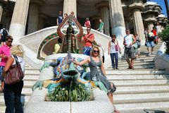 Dracon-lizard - Barcelona's symbol in Guell park Royalty Free Stock Photography