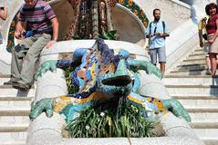 Dracon-lizard - Barcelona's symbol in Guell park Royalty Free Stock Images