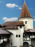 Dracula's castle of Romania. The castle is marketed as the home of the titular character in Bram Stoker's Dracula, view of courtyard. It is a national royalty free stock images