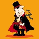 Dracula. Illustration of a Dracula Pig Stock Photo