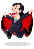 Dracula. Cartoon illustration of Dracula isolated on white background Royalty Free Stock Photography