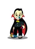 Dracula. Cartoon  Dracula isolated on white background Stock Image
