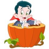 Dracula auf Halloween Lizenzfreies Stockfoto
