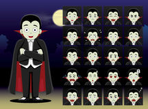 Dracula Cartoon Emotion faces Royalty Free Stock Photos