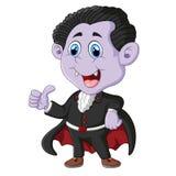 Dracula cartoon thumb up Royalty Free Stock Photos