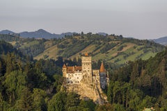 Dracula Castle in Bran at sunrise stock images