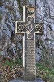 Dracula castle cross Stock Photos