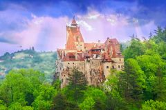 Dracula castle of Transylvania, in Bran - Romania royalty free stock photography