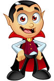 Dracula Character - Hands On Hips Stock Images