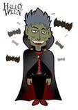 Dracula Dia das Bruxas Foto de Stock Royalty Free