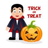 Dracula et potiron Halloween heureux Image libre de droits