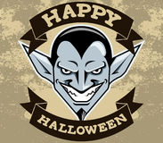 Dracula głowy Halloween odznaka Royalty Ilustracja