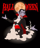 dracula Halloween Obraz Royalty Free