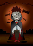 Dracula Halloween Fotografie Stock
