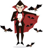 Dracula halloween character illustration Stock Photo