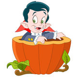 Dracula on halloween Royalty Free Stock Photo