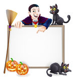 Dracula Halloween Sign Stock Photography