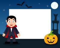 Dracula Halloweenowa Horyzontalna rama Fotografia Stock