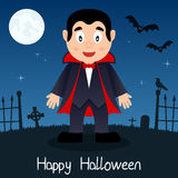Dracula Happy Halloween Card Stock Image
