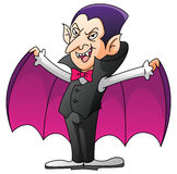 Dracula On Isolated White Cartoon. Illustrator design .eps 10 Vector Illustration