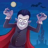 Dracula-Karikatur Lizenzfreie Stockfotografie