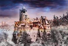 Dracula kasztel, Otrębiasty miasteczko zdjęcie royalty free