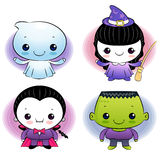 Dracula and Little Witch Character Royalty Free Stock Image