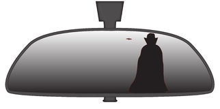 Dracula In Rear View Mirror Stock Image