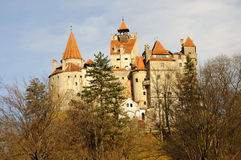 Dracula's Bran Castle. Original Dracula's Bran Castle in the light of sunset, RAW converted file with Nikon NX, no filters or other modifications Stock Images