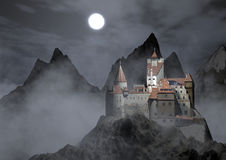 Dracula's castle Royalty Free Stock Image