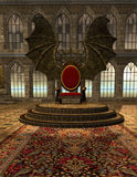 Dracula's Castle 2. The interior of the count's throne room Stock Photography