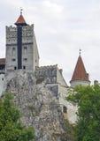 Dracula`s Castle, built on a rock. Dracula`s Castle Bran Castle, legendar residence of Vlad Tepes, built on a huge rock Royalty Free Stock Photos