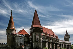 Dracula's Castle 1. Corvins Castle, (XV century), located in Romania, on the Center of Hunedoara City, southwestern part of Transylvania. Known as one of the Stock Photography